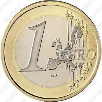 1 евро 2001 - Реверс
