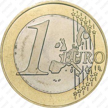 1 евро 2002, регулярный чекан Греции - Реверс
