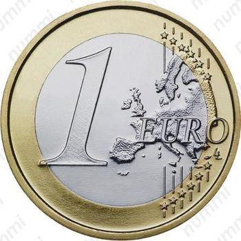 1 евро 2008, регулярный чекан Кипра - Реверс