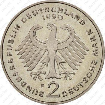 2 марки 1990, Людвиг Эрхард